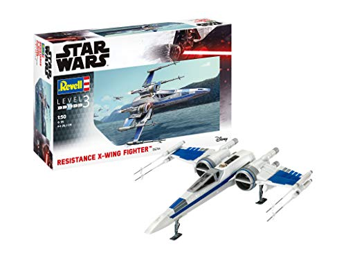 Revell 06744 Maquette Star Wars Résistance X-Wing Fighter Poe Damarron, 1/50, 6744, Blanc