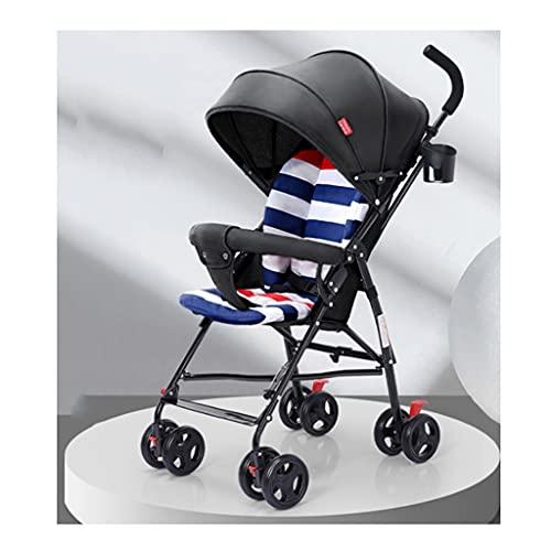 jiji sillas de Paseo El Cochecito de bebé Puede Sentarse y acostarse, el bebé es Ligero y Plegable, portátil para bebés para un carruaje fácil del bebé Cochecito de bebé