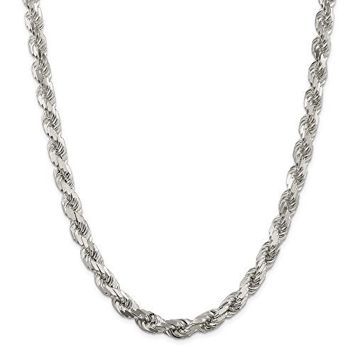 925 Sterling Silver 8mm Link Rope Chain Necklace 26 Inch Pendant Charm Fine Jewellery For Women Gifts For Her