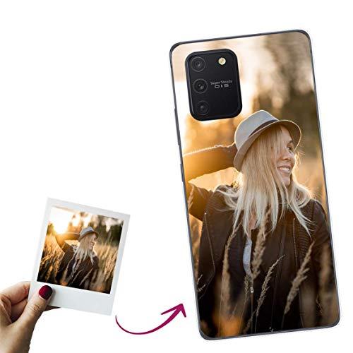 Mookase Funda para Samsung Galaxy S10 Lite 2020 Personalizada para TU MÓVIL con Imagen O Texto, Carcasa Personalizable, Gel Flexible, Borde Trasparente, Regalo Original
