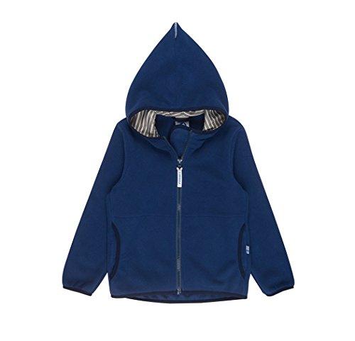 Finkid Paukku navy denim Zip In Kinder Fleece Jacke
