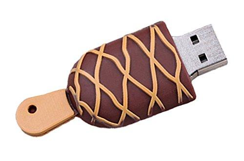 Kentop gelato Chiavetta USB penna Flash Driver Memoria Flash Chiavetta Memoria Memory Chiavetta USB, marrone, 32GB