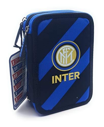 Inter FC Astuccio Corredo tre Zip completo con Pastelli Primo