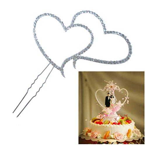 ODN Silberne herzförmige Einsteckkarte Nautisches Thema Cupcake Picks Kuchen Dekoration Party Supplies Cupcake Topper