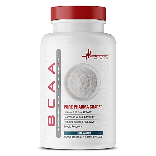 METABOLIC NUTRITION Bcaa Unflavored Supplement, 300 g