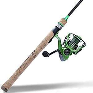 Sougayilang Fishing Rod Reel Combos,5-Piece Carbon Fiber Protable Fishing Poles with Spinning Reels for Bass,Trout-2.1M