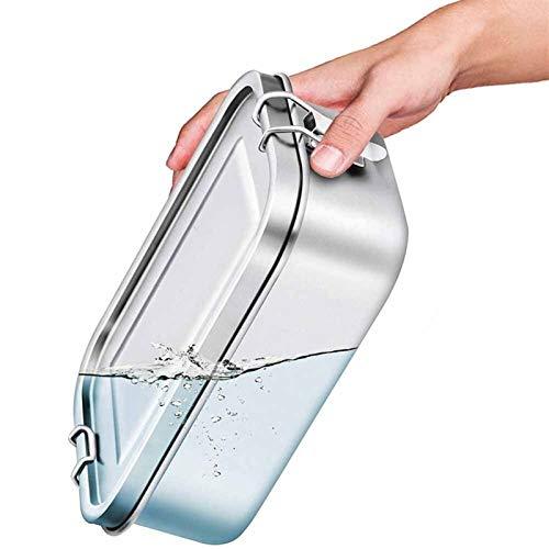 Caja de Almuerzo 304 Silicona de Acero Inoxidable de Acero Inoxidable Anillo a Prueba de Fugas Bento Becgo 800/1200 / 1400ml bocadillos contenedores