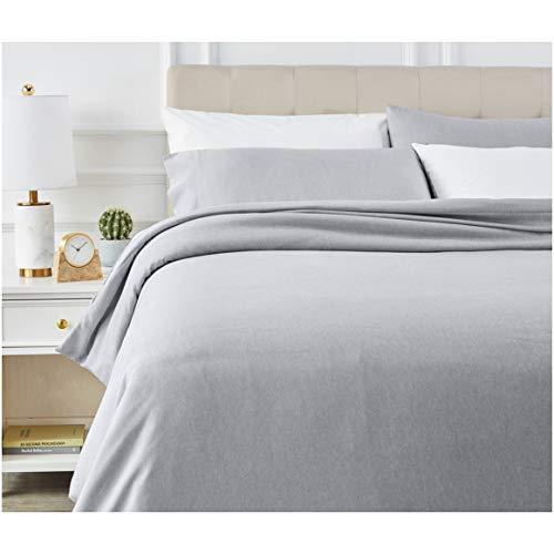 Amazon Basics - Juego de ropa de cama con funda de edredón, de microfibra, 200 x 200 cm, Azul marino claro