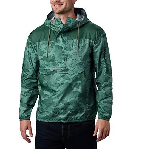 Columbia Men's Challenger Windbreaker Jacket, Thyme Green Camo Gradient/Rain Forest, X-Large