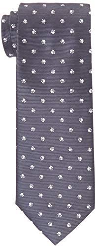 [ドレスコード101] 猫好きさん必見 ネコのネクタイとネコのタイピンの2点セット ボックス付 プレゼント ギフト メンズ おもしろ 洗える ネクタイ 可愛い ネクタイピンおしゃれ 猫 ねこ 通勤 ビジネス ネクタイ&タイピンセット にくきゅう×グレー 日