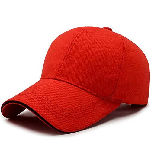 Casquette de baseball classique en coton uni pour homme et femme, Rouge