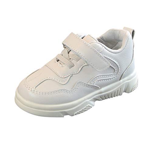 Scarpe da Ginnastica Sportive in Pelle per Bambini, Scarpe da Corsa per Bambini e Ragazze in Tinta Unita Scarpa Sportive Scarpe Casual Sneakers Basse