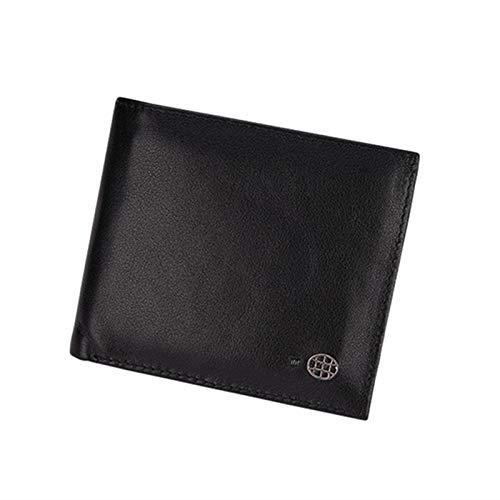 MWXFYWW Smart Fingerprint Control Wallet, Herren-Lederbrieftasche, RFID Blocking Bifold Wallet, Minimalist Slim Wallet Kartenhalter Geldscheinklammer mit USB-Stecker(Color:Black)