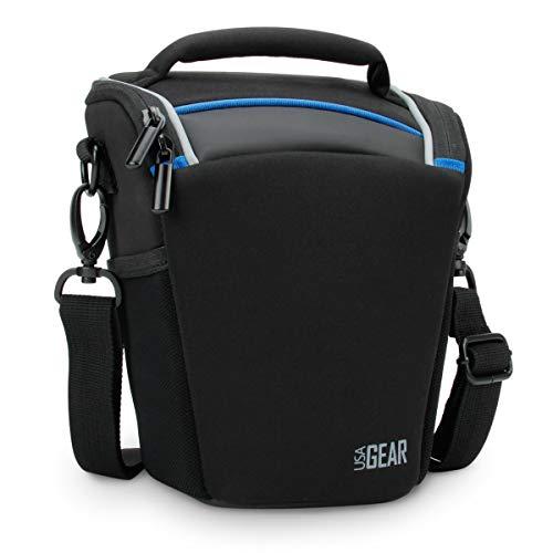 USA GEAR Borsa a Tracolla Impermeabile Per Fotocamere DSLR SLR con Obiettivi da 18-135mm/18-55mm Per Canon EOS 750D , 100D / Nikon D3300 / Pentax e altri