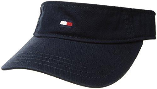 Tommy Hilfiger Men's Dad Hat Flag Solid Cotton Visor, Navy Blazer, O/S