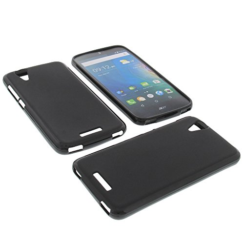 foto-kontor Tasche für Acer Liquid Z630 Liquid Z630S Liquid M630 Gummi TPU Schutz Hülle Handytasche schwarz