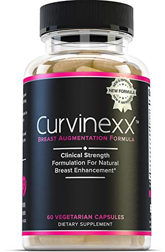 Curvinexx: Las píldoras de crecimiento natural y mejora de pecho | Suplemento de ampliación para aumentar tu confianza y tus curvas | Con alholva, cardo bendito, dong Quai y ñame salvaje, 60 Caps