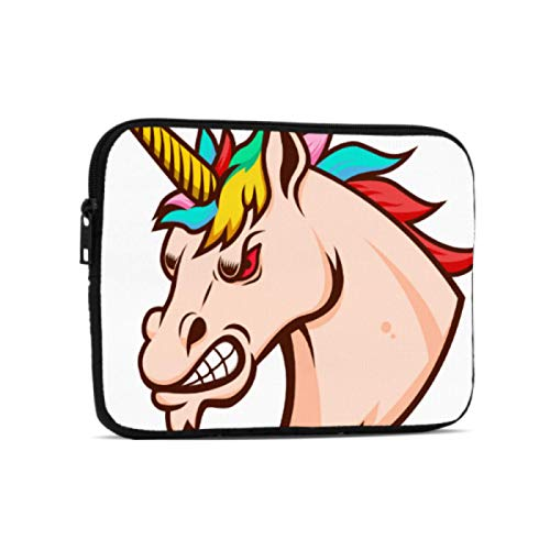Tablet Bag Angry Unicorn Head Design Laptop Bag Compatible With Ipad 7.9/9.7 Inch Shockproof Neoprene Zipper Tablet Protective Bag With Handle Strap