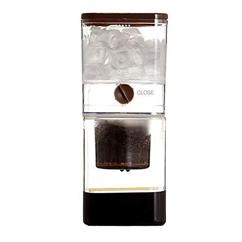 BONHEUR Gotero fría Brew Cafetera, 500 ml de Hielo Ajustable Goteo de Cristal Duth frío Goteo de café Máquinas de café frío Brew