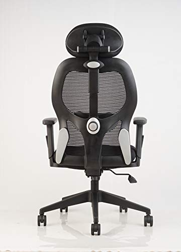 INNOWIN® Matrix High Back Mesh Office Chair with Armrest and Headrest (Black)