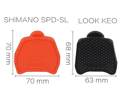 Celtics Rennrad Plattform Pedale cliples Adapter für Shimano spd-sl-Look Keo/Wellgo Sytems, Black/Blue/Orange, orange for LOOK KEO use 1 pair