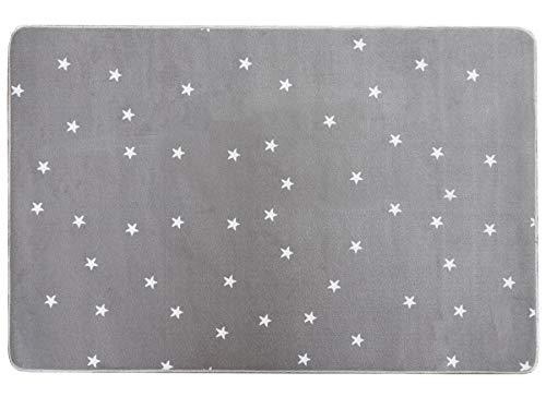 Primaflor - Ideen in Textil Tapis pour Enfant Gris Stella Motif Étoilé, Tapis Chambre d´Enfant Pastel Doux - Tapis Bébé, Quatre Couleurs et Deux Tailles   1,00 x 1,50m