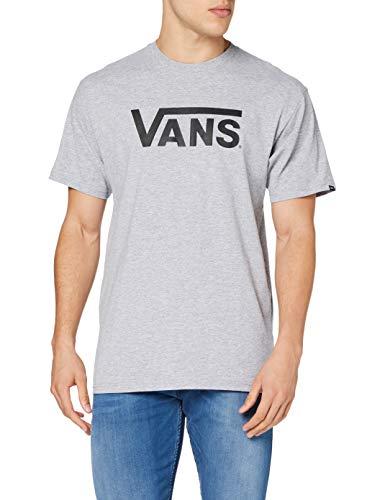 Vans Classic Camiseta, Gris (Athletic Heather/Black), Medium para Hombre