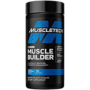 Muscle Builder | MuscleTech Muscle Builder | Muscle Building Supplements for Men & Women | Nitric Oxide Booster | Muscle Gainer Workout Supplement | 400mg of Peak ATP 30 Count  Packaging May Vary