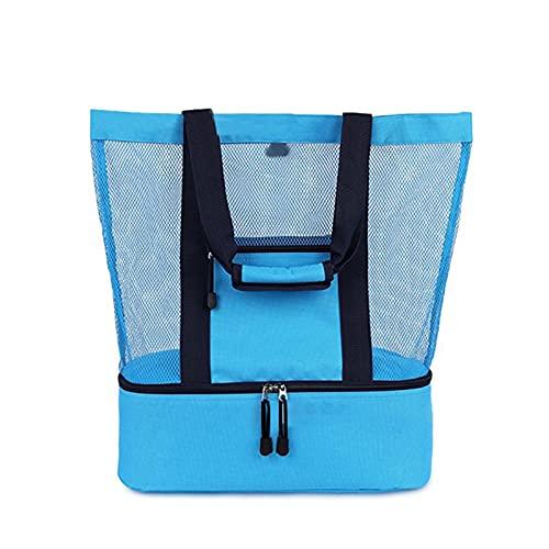 Bolsa isotérmica para picnic, bolsa para el almuerzo, bolsa térmica con un hombro, portátil