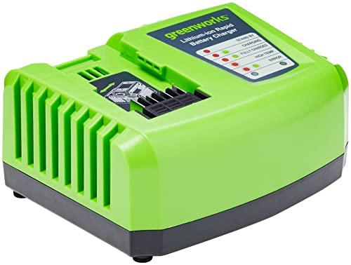 Greenworks Cargador Rápido de Batería G40UC4 (Li-Ion 40 V 4A 30 min Tiempo de Carga con Batería de 2Ah Adecuada Para Todos Los Dispositivos y Baterías de la Serie 40 V Greenworks Tools)