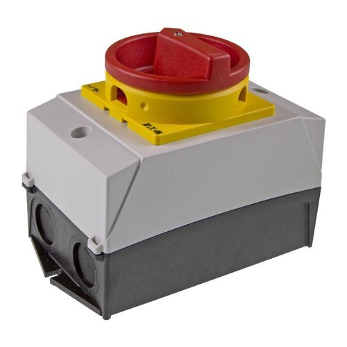 Eaton 207145 Hauptschalter, 1-polig, 20 A, not-aus-Funktion, 90 Grad, abschließbar in 0-Stellung, Aufbau