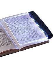 HERCHR Światła do czytania książek w łóżku, LED lampa książkowa z odpinanym klipsem na strony