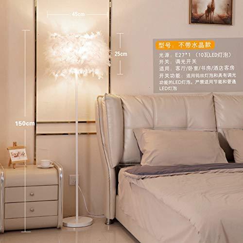 Stehlampe LGFSG Moderne kristallweiße vertikale StehlampeArbeitszimmerweiße Nachttischlampe Stehlampen, LILA