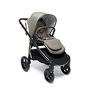 Mamas & Papas Ocarro All Terrain Puschair, Buggy, Pram, One Hand Fold, Puncture-Proof Tyres, Extendable Hood & Adjustable Lie Flat Seat - Iconic, 16.15 kg   3
