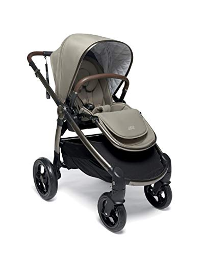 Mamas & Papas Ocarro All Terrain Puschair, Buggy, Pram, One Hand Fold, Puncture-Proof Tyres, Extendable Hood & Adjustable Lie Flat Seat - Iconic, 16.15 kg Mamas & Papas Robust support: dual suspension for all-terrains Ultimate comfort: large, padded seat One-hand fold: quick, easy and compact 1