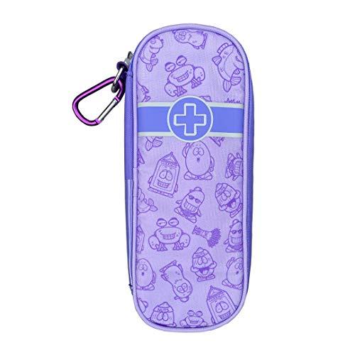 Allermates Medizinetui für Epipen, kinderfreundlich, Laugh Out Loud Lilac