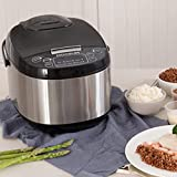 MOOSUM Electric Rice Cooker 10 Cups With Steamer Stainless Steel Asian Rice Sushi Soup Slow Cooker Auto Warmer And 24 Hours Delay Timer