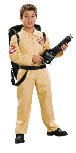 Ghostbuster Deluxe Child's Costume with Blow Up Proton Pack, Large