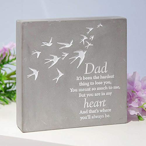 Thoughts of you Dad Concrete Stone Remembrance Graveside Memorial Ornament
