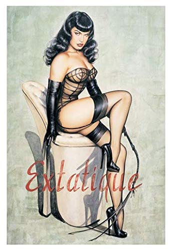 ysldtty Leinwand Malerei abnehmbares Wandbild Home Decor Poster Hot Bettie Page Etatique Poster E500 Rahmenlos 40cmx60cm