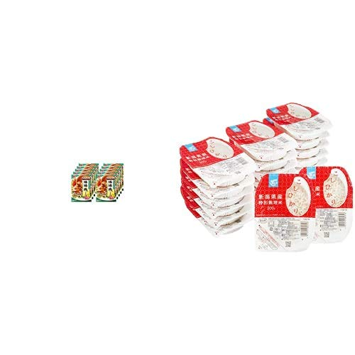 味の素 CookDo(クックドゥ) 棒棒鶏用 100g(50g×2)×10個入 + Happy Belly パックご飯 新潟県産こしひかり 200g×20個(白米) 特別栽培米