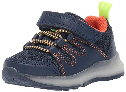 Carter's Girl's Light-Up Sneakers, navy, 4 M US Toddler