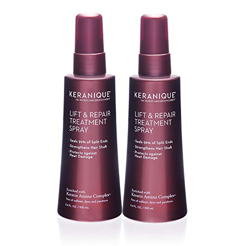 Keranique Lift and Repair Treatment Spray | Keratin Hair Treatment | Instant Volume and Body | Keratin Amino Complex, Free of Sulfates, Dyes and Parabens, Pack of 2 [3.4 Fl Oz each]