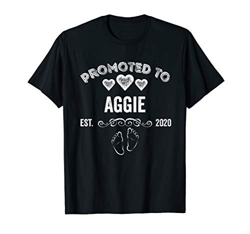 Promoted to Aggie Est 2020 Shirt Gift For Mom T-Shirt