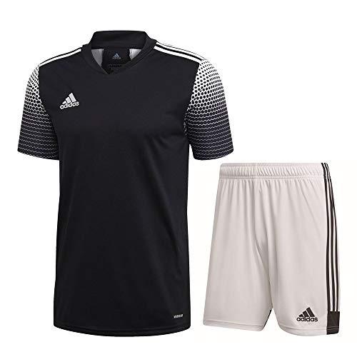adidas Fußball Regista 20 Trikotset Trikot Shorts Trainingsset Herren schwarz weiß Gr L