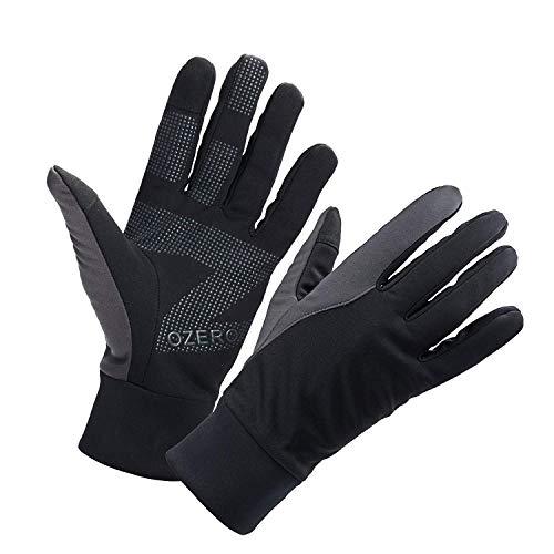 OZERO Herren Wasserdicht Thermohandschuhe, Touchscreen Winterhandschuhe Fahrhandschuhe Fahrradhandschuhe Laufhandschuhe