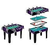 Topsport Mesa de juego 4 en 1 con futbolín, billar, ping pong, hockey