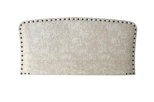 1Tapiza S.L. Arteta Cabezal, Microfibra, Blanco Roto, Cama 150/170 (King), 160x8x80 cm