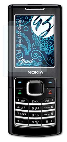 Bruni Schutzfolie kompatibel mit Nokia 6500 Classic Folie, glasklare Bildschirmschutzfolie (2X)