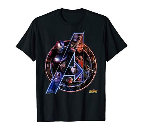 Marvel Avengers Infinity War Neon Team Graphic T-Shirt T-Shirt